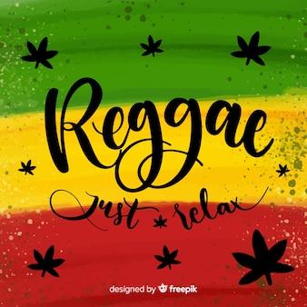Fundo de reggae de traçado de pincel