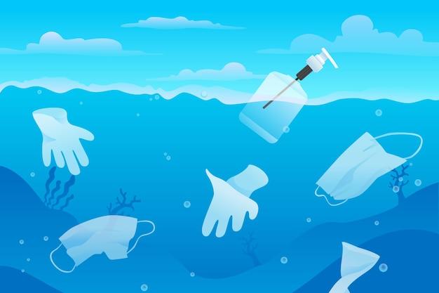 Fundo de resíduos de água de coronavirus