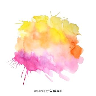 Fundo de respingo colorido em aquarela