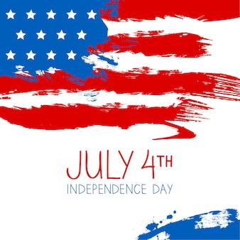 Fundo de respingo da bandeira americana. design do dia da independência