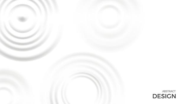 Fundo de respingo. formas de creme de leite em branco. modelo de banner de vetor de rodadas de líquido de vista superior. movimento de creme de leite branco, ilustração splash líquido leitoso