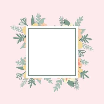 Fundo de retângulo flor quadro