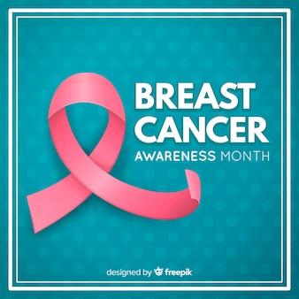 Fundo de rosa do mês de conscientização de câncer de mama