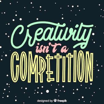 Fundo de rotulação de citação de criatividade mão desenhada