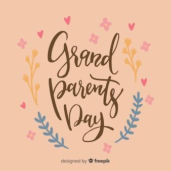 Fundo de rotulação de dia de avós