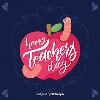 Fundo de rotulação de dia do professor do mundo