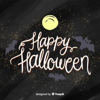Fundo de rotulação de halloween criativo