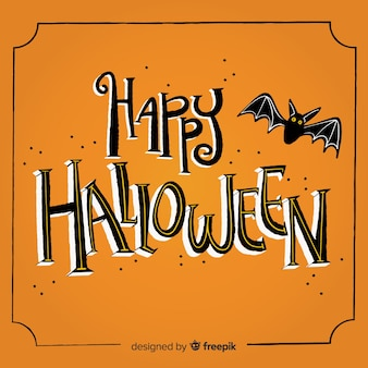 Fundo de rotulação de halloween