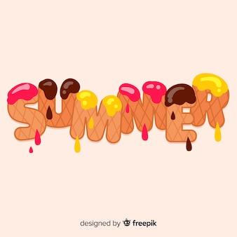 Fundo de rotulação de verão