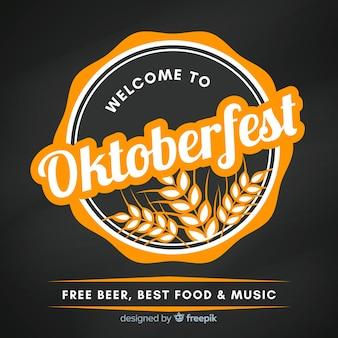 Fundo de rótulo de oktoberfest