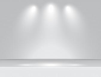 Fundo de sala branca de estúdio com holofotes