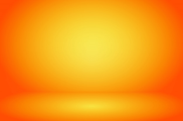 Fundo de sala de estúdio amarelo e laranja