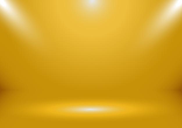 Fundo de sala de estúdio de ouro 3d