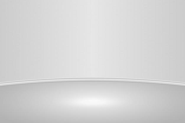 Fundo de sala de estúdio redondo branco vazio