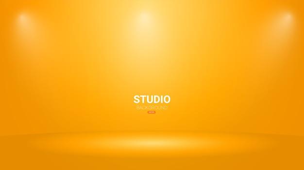 Fundo de sala de estúdio vazio com sportlights.