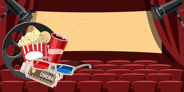 Fundo de salão de cinema