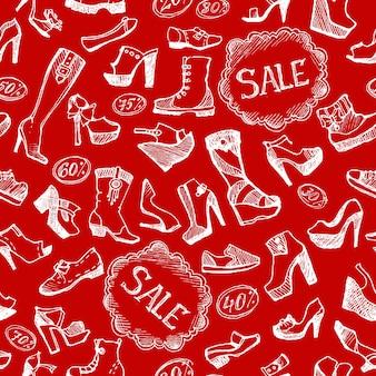 Fundo de sapatos sem costura