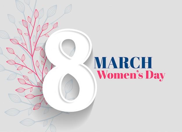 Fundo de saudação de dia feliz feminino