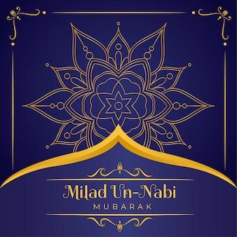 Fundo de saudação de mawlid milad-un-nabi