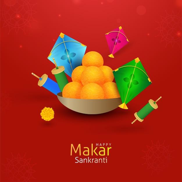 Fundo de saudação do festival de pipas makar sankranti