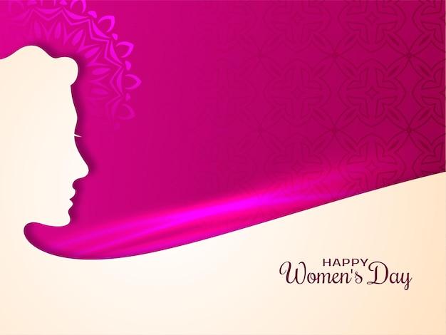 Fundo de saudação feliz dia da mulher