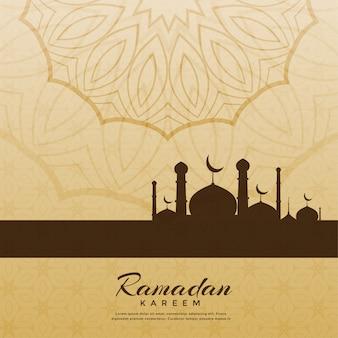 Fundo de saudação festival ramadan kareem criativo