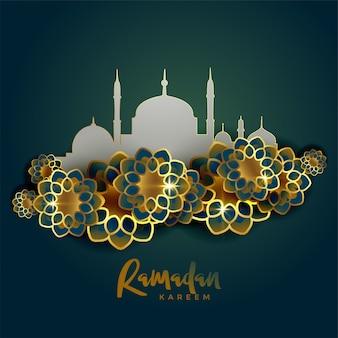Fundo de saudação islâmica ramadan kareem