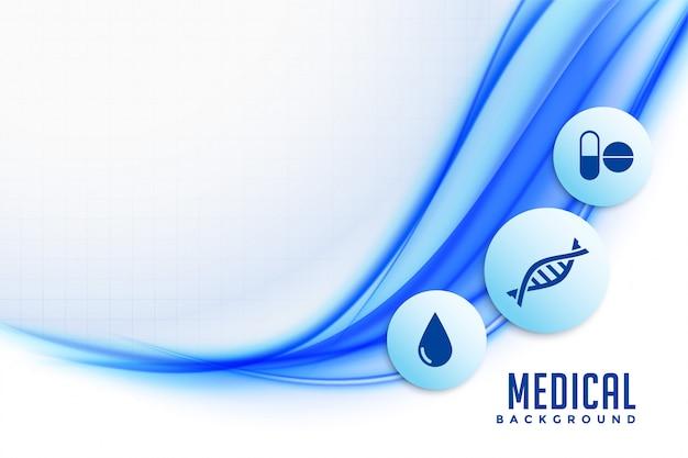 Fundo de saúde com ícones médicos e design de símbolos