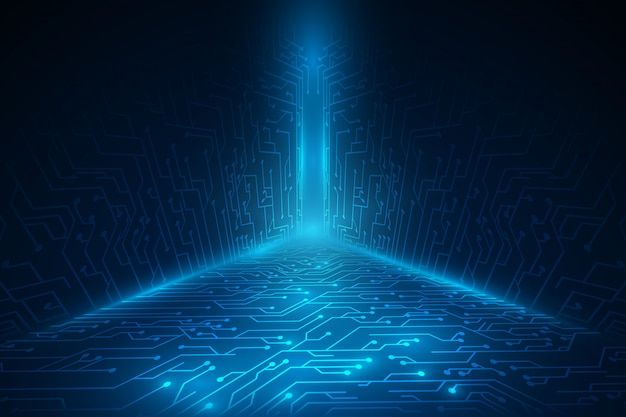 Fundo de scifi de tecnologia