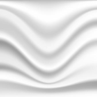 Fundo de seda ondulado abstrato na cor branca