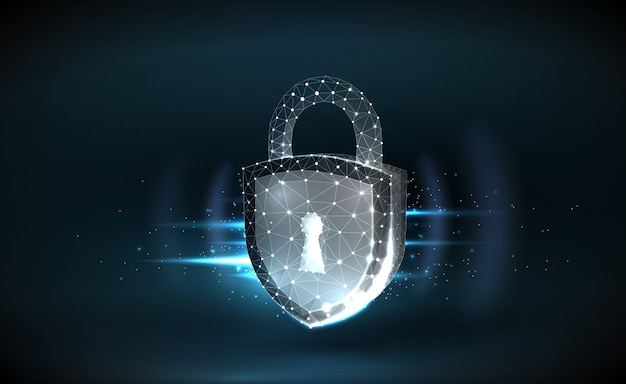 Fundo de segurança cibernética com bloqueio de estrutura de arame