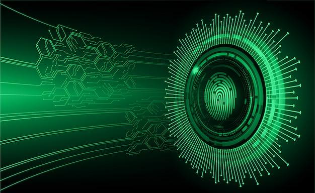 Fundo de segurança cibernética de rede de impressão digital.