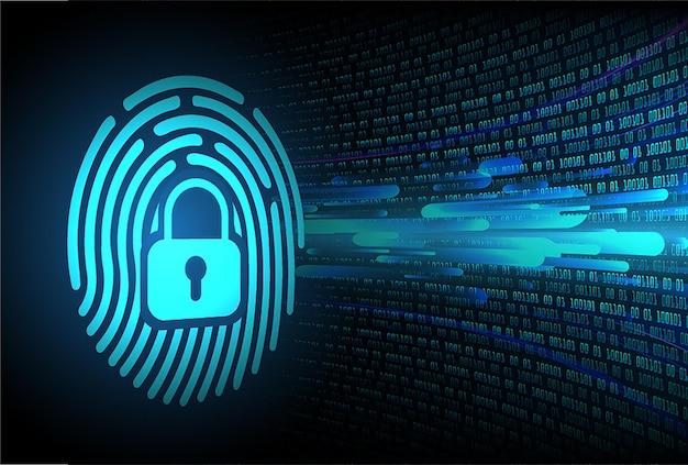 Fundo de segurança cibernética de rede de impressão digital