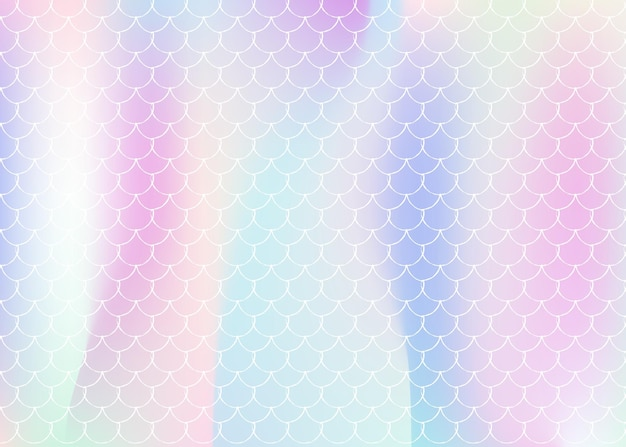 Fundo de sereia holográfica com escalas de gradiente. transições de cores brilhantes