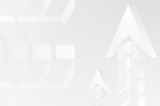 Fundo de seta branca, borda abstrata, vetor de inicialização de negócios