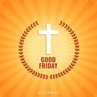 Fundo de sexta-feira santa com cruz