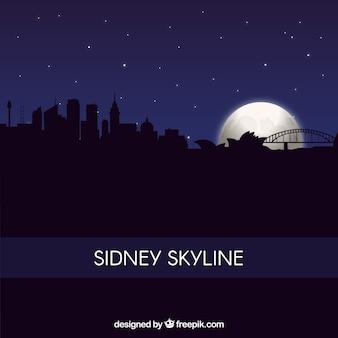 Fundo de silhueta sidney skyline