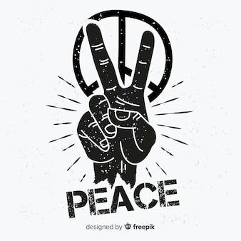 Fundo de símbolo de paz de mão
