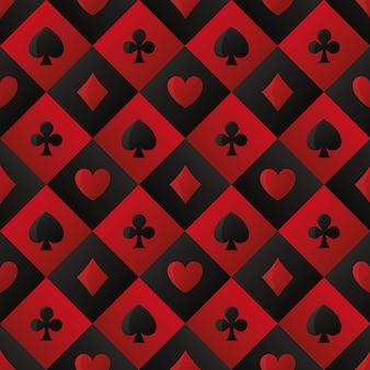 Fundo de símbolos de cartões de lazer