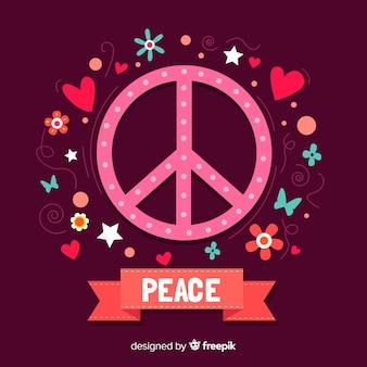 Fundo de sinal de paz de pontos