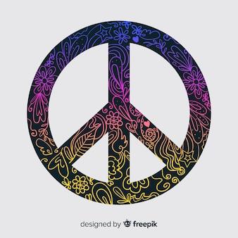 Fundo de sinal de paz doodle