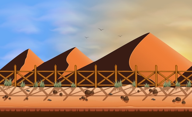 Fundo de sobremesa de colinas de areia