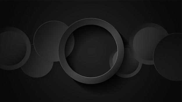 Fundo de sobreposição de círculo preto