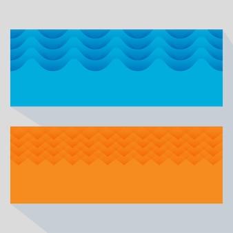 Fundo de sobreposição de corte de papel abstrato em duas opções de cores.