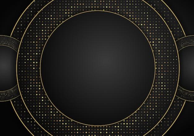 Fundo de sobreposição metálico escuro abstrato. fundo 3d abstrato de luxo com uma combinação de polígonos luminosos em estilo 3d. decoração de elemento de pontos de brilho de design gráfico.