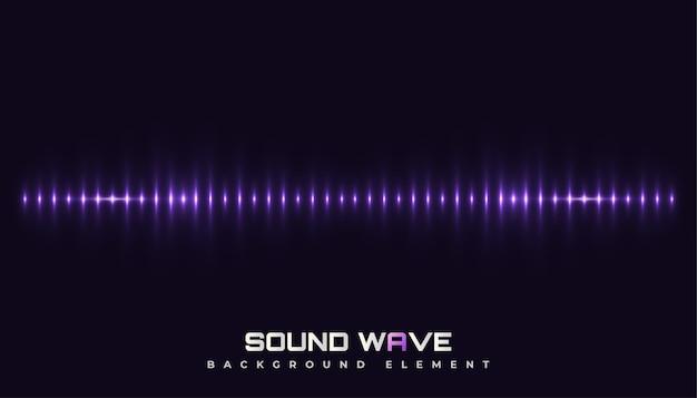 Fundo de som de espectro com ondas brilhantes