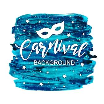 Fundo de splatter de carnaval de aquarela