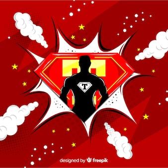 Fundo de super-herói de meio-tom