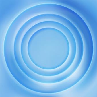 Fundo de superfície rippled da água azul. ilustração concêntrica vibrante de superfície