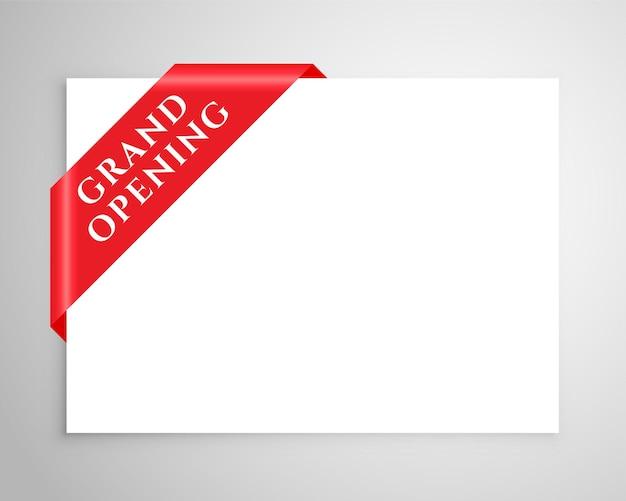Fundo de tag de inauguração com espaço de texto